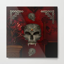 Awesome skull with celtic knot Metal Print