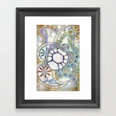 Sea Turtle Paisley  Framed Art Print