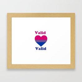 BI Valid text Framed Art Print