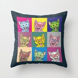 Pop Art Cats Throw Pillow