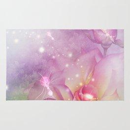 Wonderful flowers in soft purple colors Rug
