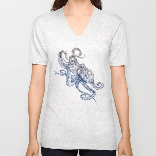 Octo Flow Unisex V-Neck