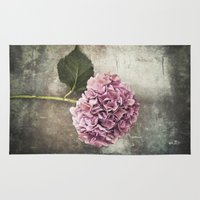 hydrangea Area & Throw Rugs featuring Hydrangea  by Maria Heyens