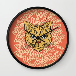 Purrrrr Wall Clock