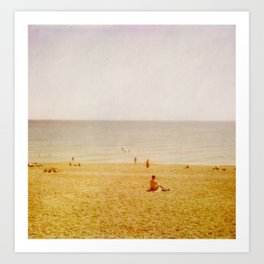 Beach Days II Art Print