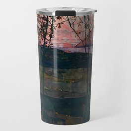 "Egon Schiele ""Setting Sun"" Travel Mug"