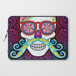 Sugar Skull (Mustachio) Laptop Sleeve
