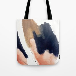 Drift Away [2] - a mixed media abstract piece in pink, brown, and purple Tote Bag