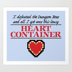 Lousy Heart Container Art Print