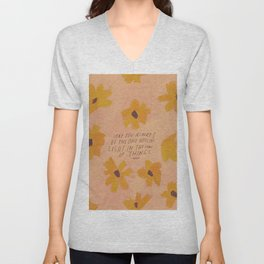 Noticing Light In The Chaos Of Things Unisex V-Neck