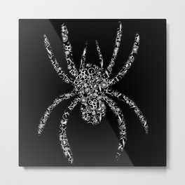 Spider From Bicycle Hobby Sport Metal Print