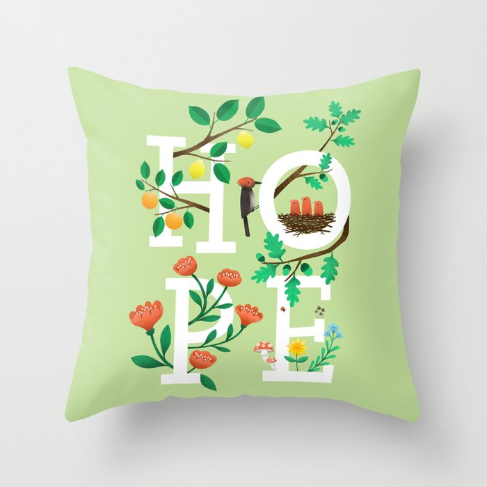 Hope Decorative Pillow : Hope Throw Pillow by wharton Society6