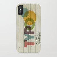 typo iPhone & iPod Cases featuring typo by Vin Zzep