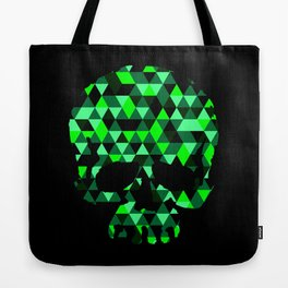 Triangle Camouflage Skull (BLACK) Tote Bag