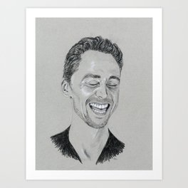 Tom Hiddleston: Laughter Art Print