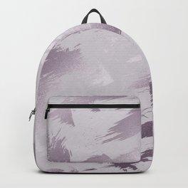 Blush lavender purple abstract glitter brushstrokes Backpack