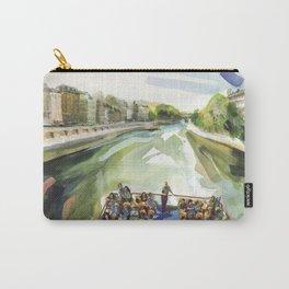 A choppy Seine makes for a fun ride on the Bateau Mouche - Paris Carry-All Pouch
