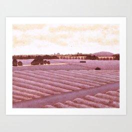 Wine Country In Wine Art Print