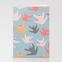 sloths Stationery Cards featuring Cute sloths pattern by Darish