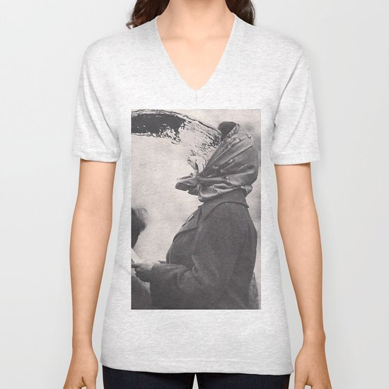 Human Water Fountain Unisex V-Neck