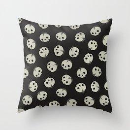 Skull Pattern (BLACK) Throw Pillow