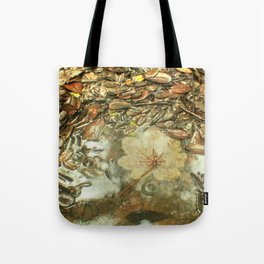 On the Tradewinds trail we find this (white side) Yagrumo tree leaf - El Yunque rain forest Tote Bag