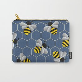 Bumbled Blue Carry-All Pouch