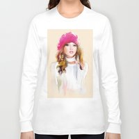 red riding hood Long Sleeve T-shirts featuring  red riding hood by tatiana-teni
