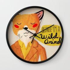 Because I'm a Wild Animal Wall Clock