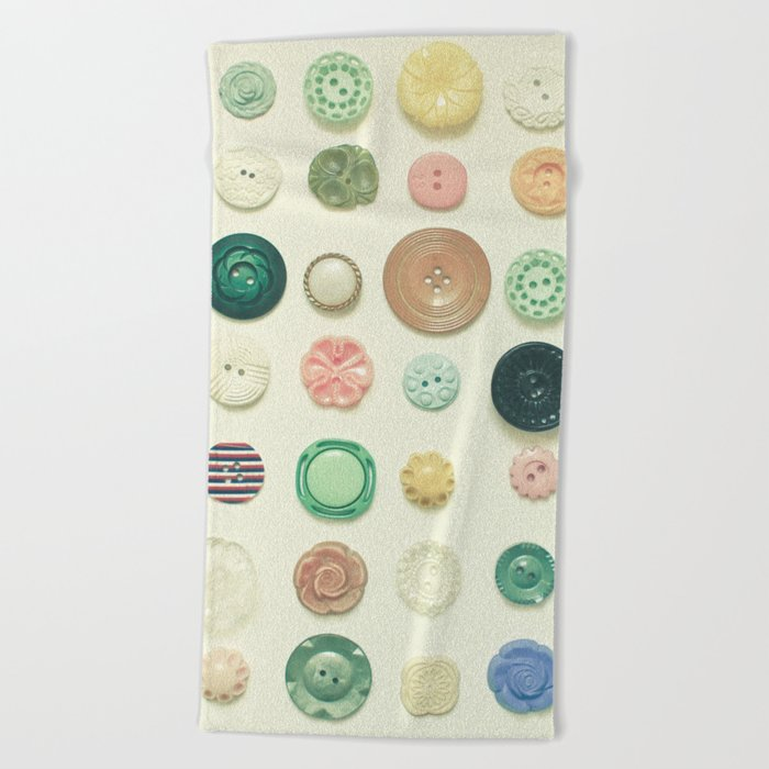 The Button Collection Beach Towel