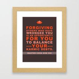 Karmic Debts Framed Art Print