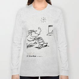 Worker Ape Pushes Dolly Long Sleeve T-shirt