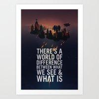 bioshock infinite Art Prints featuring Bioshock Infinite Quote by Simon Ward