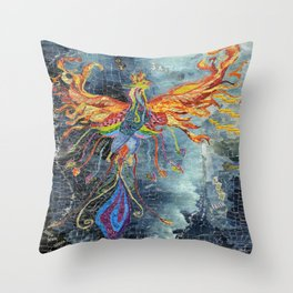The Phoenix Rising From the Ashes Throw Pillow
