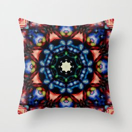 Mandala - The Colors of Your Heart Blend Throw Pillow