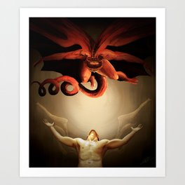 The Great Red Dragon Art Print