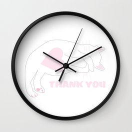 Thank you cat. Wall Clock