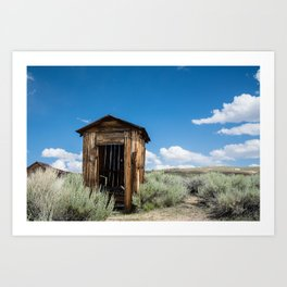 Lone Outhouse Art Print