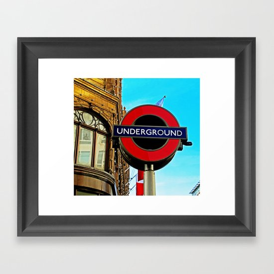 Underground at Harrods Framed Art Print