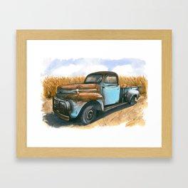 Farm Hauler Framed Art Print