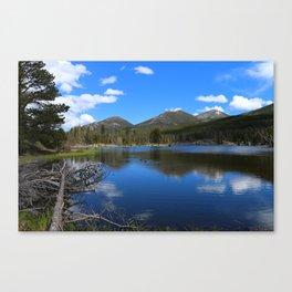 Sprague Lake And Cloud Reflection Canvas Print