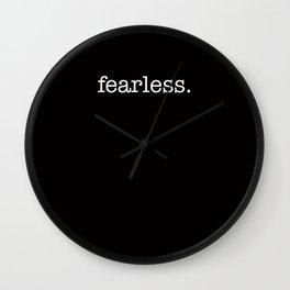 fearless. Wall Clock
