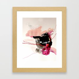 Day 32: Present conversations materialize then pass (like a fleeting Instagram post). Framed Art Print