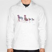 labrador Hoodies featuring Labrador family by Watercolorist