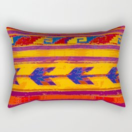 Zopotec Folk Art Rectangular Pillow