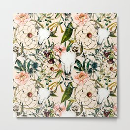 Floral bohemian pattern Metal Print