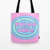 daria Tote Bags featuring Sick Sad World Daria Favorite Documentary in Pastel by Illustrations by Krishna Tabanera