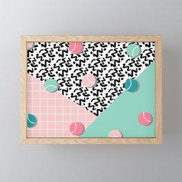 Tennis Pattern #society6 #decor #buyart Framed Mini Art Print