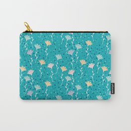 Washed out flowers pattern. Carry-All Pouch