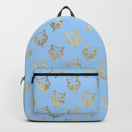 Elegant Gold Harp Pattern Backpack